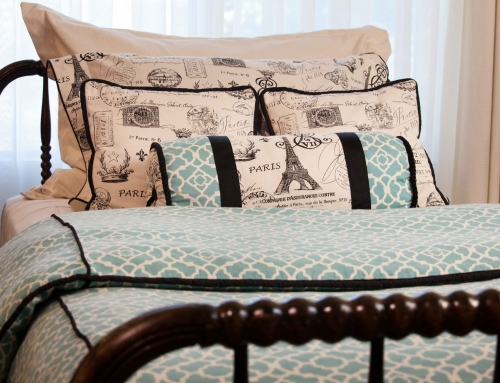 Custom Duvet Cover, Throw Pillows and Shams